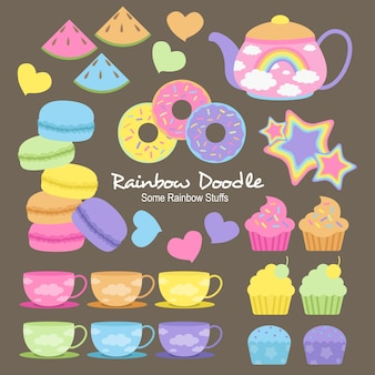 Doodle di wilson rainbow objects