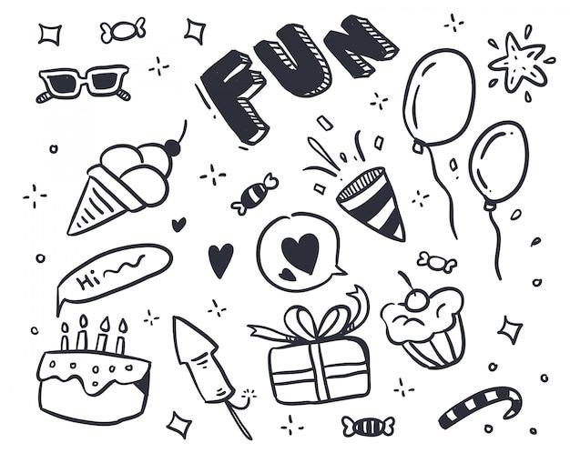 Doodle festa disegnata a mano