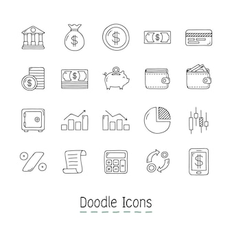 Doodle Financial Icons.