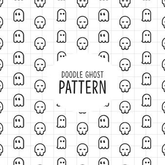 Doodle ghost pattern