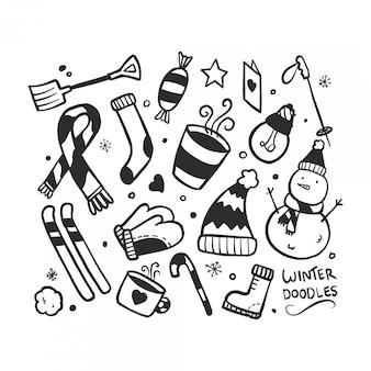 Doodle set invernale