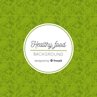 Doodle sfondo cibo sano