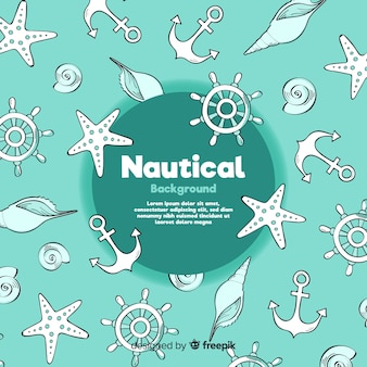 Doodle sfondo nautico