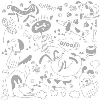 Doodles con cani carini