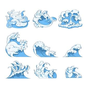 Doodles d'onda giapponesi
