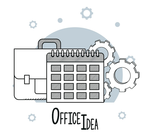 Doodles di idee per l'ufficio