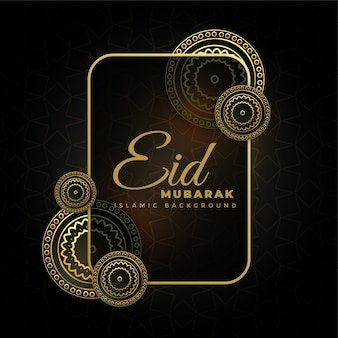 Dorato decorativo eid mubarak scuro