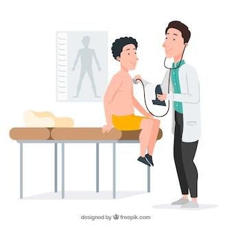 Dottore, controllo, paziente