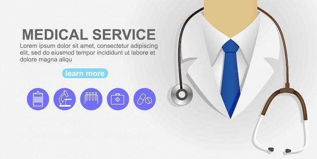 Dottore da vicino. sfondo medico.