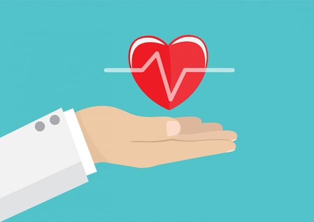 Dottore in possesso di un cuore