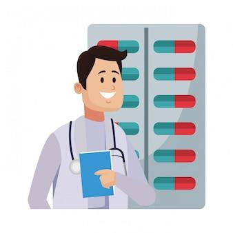 Dottore maschio con stetoscopio