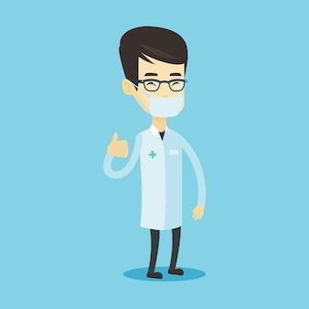 Dottore rinunciare pollici.
