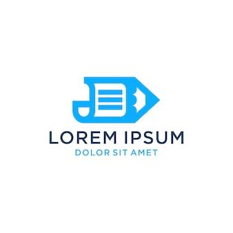 Download dell'icona del logo della penna di carta