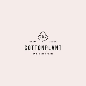 Download dell'illustrazione dell'icona di vettore di logo del cotone