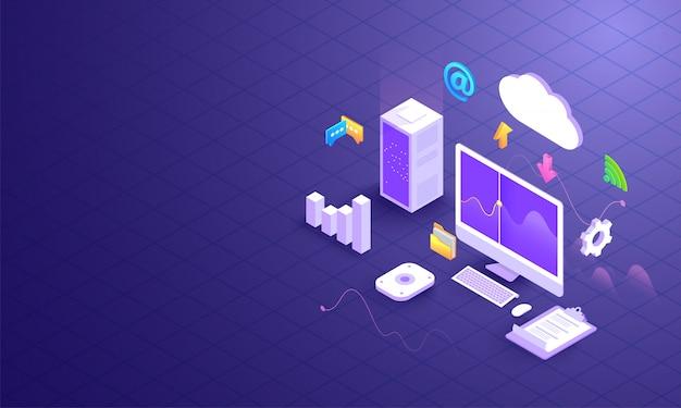 Download e caricamento dei dati cloud.