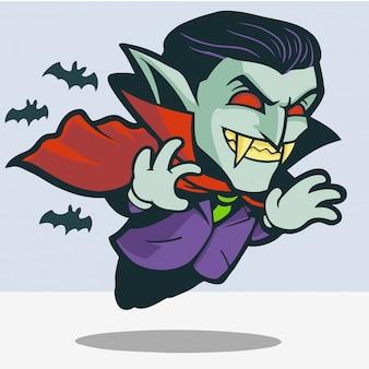 Dracula carino volare con pipistrelli