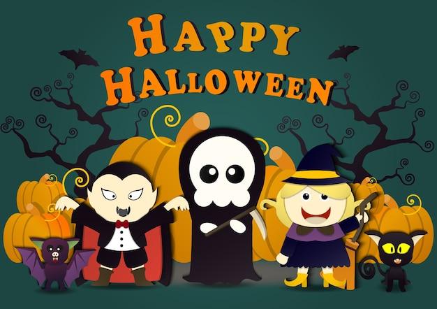 Dracula con un amico nella festa di halloween,