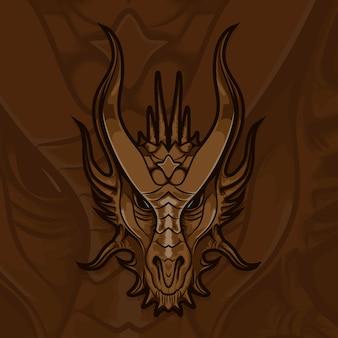 Drago di esport gamer logo
