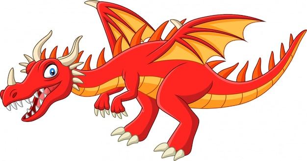 Drago rosso dei cartoni animati