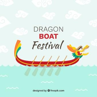 Dragon boat festival di sfondo
