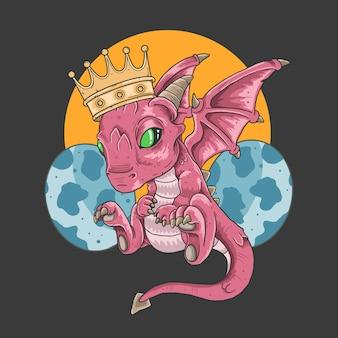 Dragone regina e uova carine