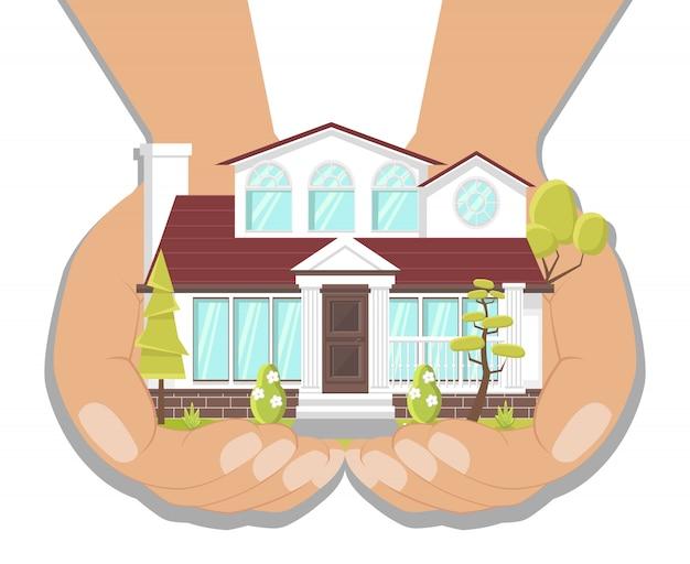 Dream house, villa fancy illustrazione
