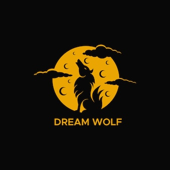 Dream lupo luna notte logo
