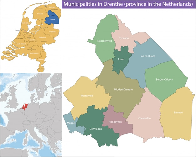 Drenthe è una provincia dei paesi bassi