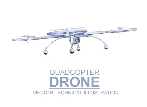 Drone illustrazione tecnica