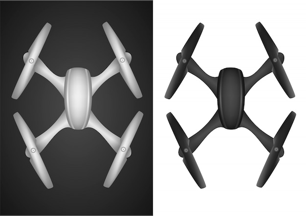 Drone quadrocopter fly wireless