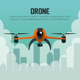 Drone sorvola la città