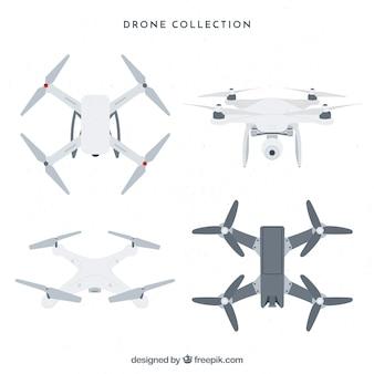 Drones professionali con disegno piatto