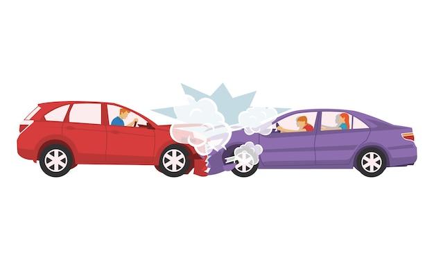 Due auto si sono schiantate e distrutte