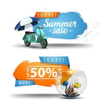 Due banner cliccabili in vendita in estate