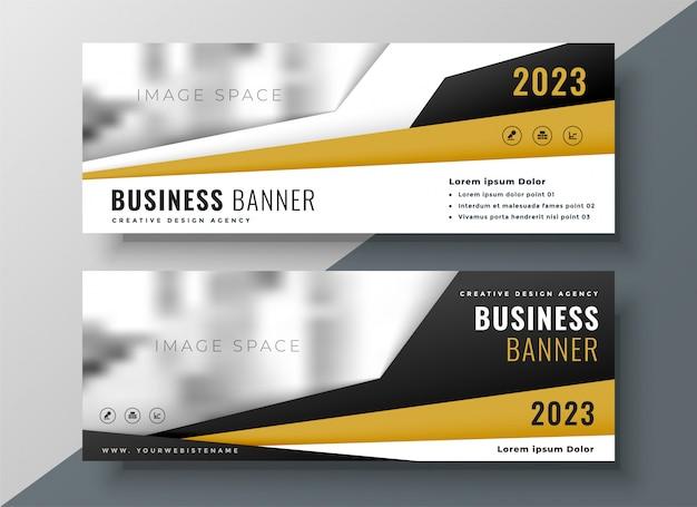 Due banner web aziendali orizzontali con spazio per testo e immagine