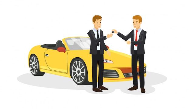 Due bussinessman sono trattative sull'auto