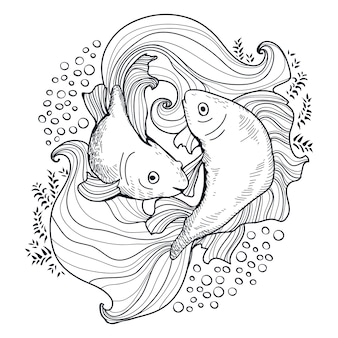 Due pesci d'oro