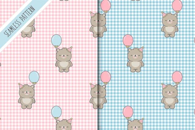Due sfondi di baby bear premium