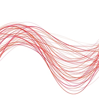 Dynamic abstract wave background linea - illustrazione vettoriale da righe rosse curve