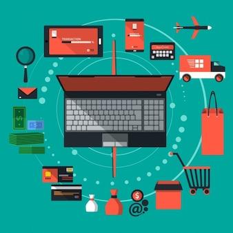 E-commerce oggetti negozio web