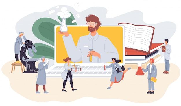 E-learning di chimica della classe internet di scienza online