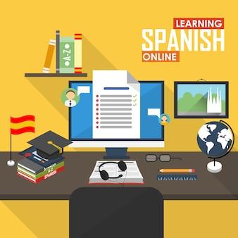 E-learning lingua spagnola.