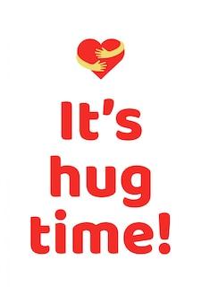 È un banner per il tempo di abbraccio