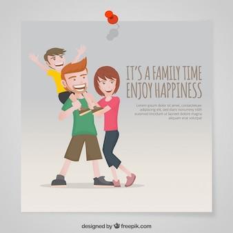 E 'un tempo della famiglia godere la felicità