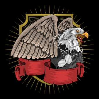 Eagle bird for veterans, memorial e indipendence day artwork