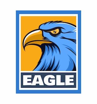 Eagle design illustrazione del telaio isolato