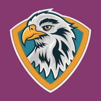 Eagle esport mascot logo illustrazione