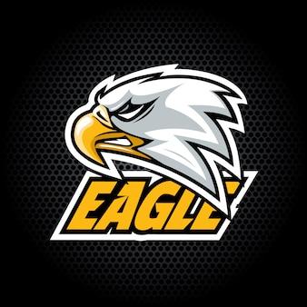 Eagle head dal lato. può essere utilizzato per il logo del club o della squadra.