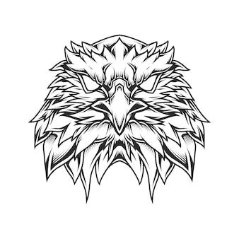 Eagle head line art illustrazione