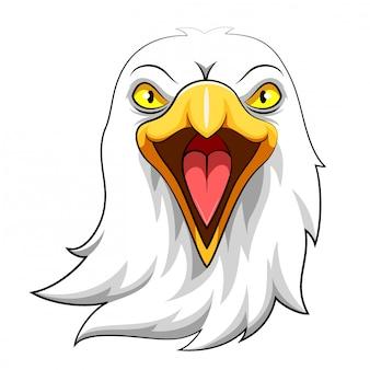 Eagle head mascot dell'illustrazione